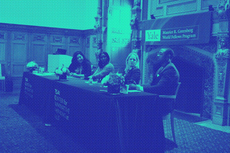 Panelists speak at Global Innovation Summit